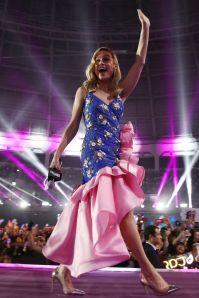 Brie Larson in Rodarte, pumps Gianvito Rossi alla premiere of Avengers Endgame, South Korea