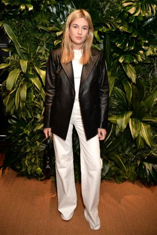 Camille Charriere in Ralph Lauren akka sustainable Earth Polo, London.