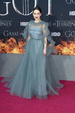 Emilia Clarke in Valentino alla 'Game of Thrones' Season 8 Premiere, New York