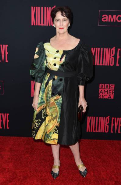 Fiona Shaw in Simone Rocha alla Killing Eve Season 2 Premiere, Hollywood