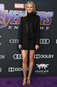 Gwyneth Paltrow in G label by Group alla premiere of Avengers Endgame, LA