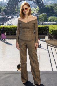 Jessica Chastain in Ralph Lauren al X-men Dark Phoenix photocall, Paris.
