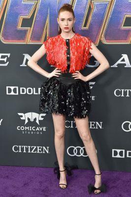 Karen Gillian in Christopher Kane alla premiere of Avengers Endgame, LA