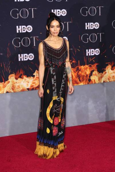 Lisa Bonet in Dior alla 'Game of Thrones' Season 8 Premiere, New York