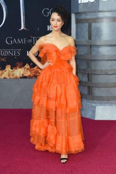 Nathalie Emmanuel in Ermanno Scervino alla 'Game of Thrones' Season 8 Premiere, New York
