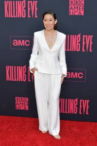 Sandra Oh in Giorgio Armani alla Killing Eve Season 2 Premiere, Hollywood