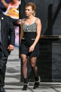 Scarlett Johansson in Miu Miu mini, Los Angeles.
