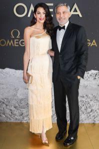 Amal Clooney e George Clooney all'Omega gala event,Orlando