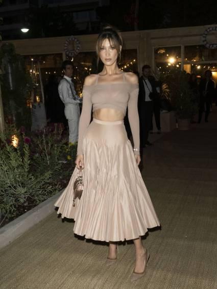 Bella Hadid in Dior al Vogue and Dior dinner