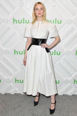 Elle Fanning in Alexander McQueen ad un Hulu event, New York