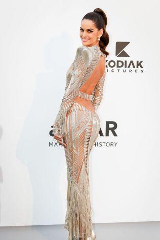 Izabel Goulart in Julien Macdonakd all'AmfAR Gala, Cannes
