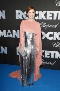 Julianne Moore in Givenchy Haute Couture alla Rocketman Premiere al al Cannes Film Festival