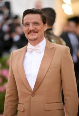 Pedro Pascal wearing Buberry at the Metropolitan Museum of Art's Costume Institute Gala 2019