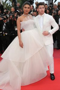 Priyanka Chopra e Nick Jonas alla premiere of Les Plus Belles Annees D'Une Vie, Cannes Film Festival