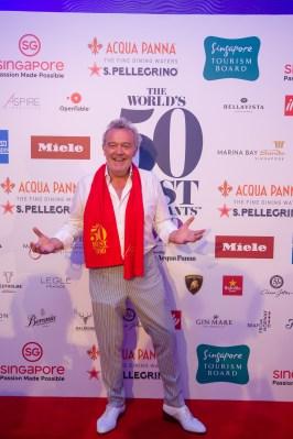 Alain Passard, winner of 2019 Chefs' Choice award, sponsored by Estrella Damm