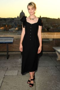 Carey Mulligan alla Bulgari exhibition 'The Story, The Dream' , Rome
