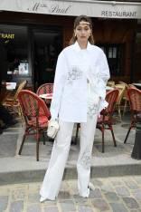 Gigi Hadid al Louis Vuitton menswear show, Paris