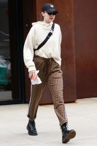 Gigi Hadid in Burberry, NY