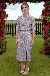 Jenna Coleman in Erdem al Cartier Queen's Cup Polo, Windsor
