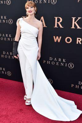 Jessica Chastain in Toni Maticevski alla The Dark Phoenix Premiere, Los Angeles