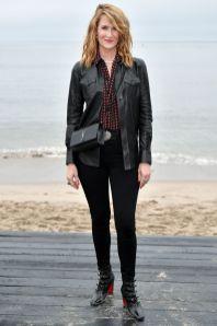 Laura Dern in Saint Laurent al Saint Laurent menswear show, LA