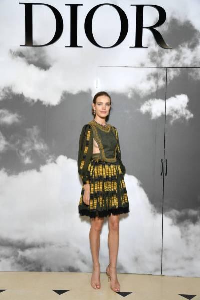 Natalia Vodianova in Dior al Dior haute couture show, Paris