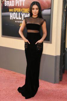 Vanessa Hudgens in Giorgio Armani alla premiere of Once Upon a Time in Hollywood, LA