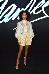 Yara Shahidi in Zimmermann al 2019 Comic-Con International, San Diego