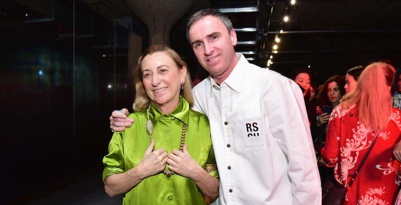 Miuccia Prada sceglie Raf Simons