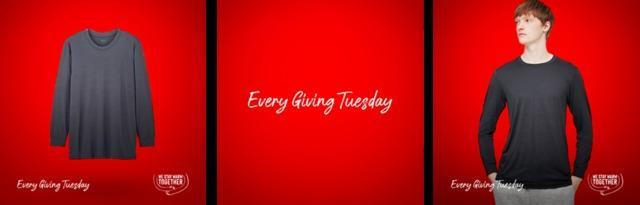 """Uniqlo aderisce all'iniziativa""""Every Giving Tuesday"""""""