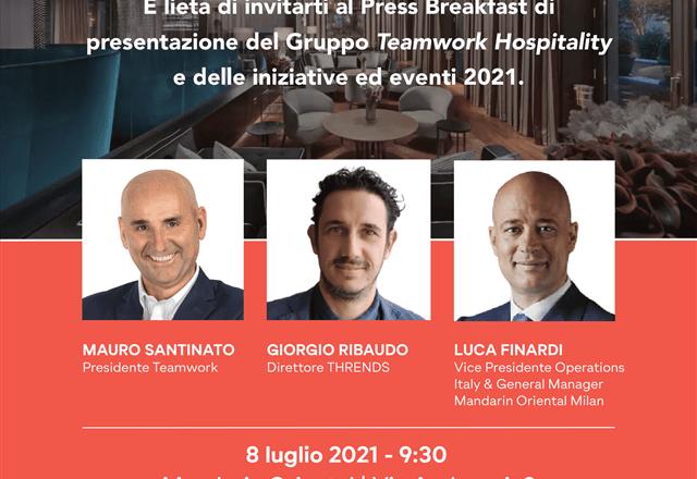La conferenza stampa di Teamwork Hospitality al Mandarin Oriental di Milano