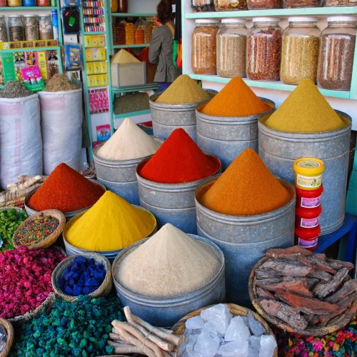 Spices in Moroccan Souk
