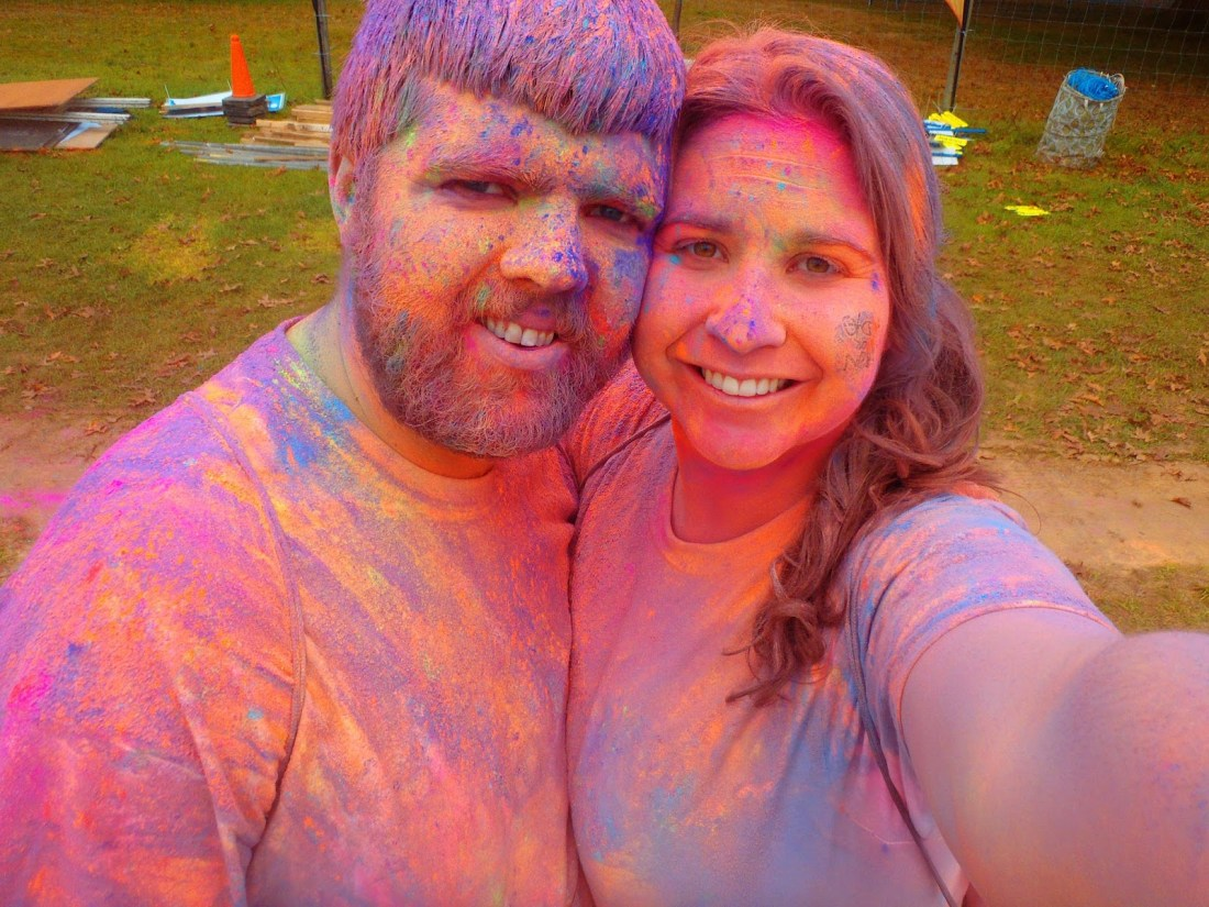 Simone and Dan at Run or Dye