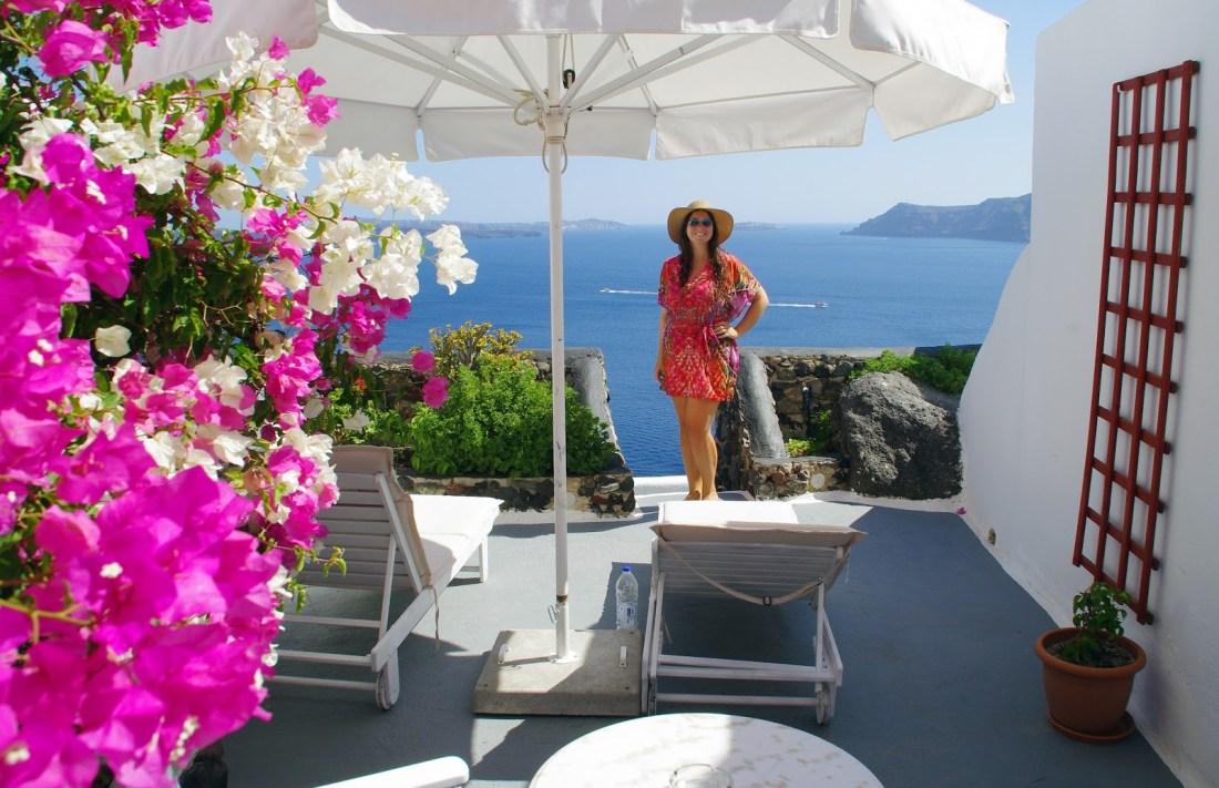Simone at Nostos Apartments Santorini