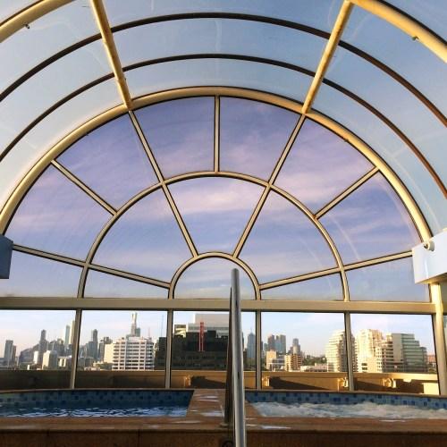 Atrium Rooftop City Views Melbourne Parkview Hotel