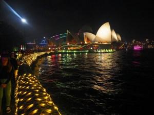 Opera House and Botanical Gardens during Vivid Festival