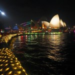 Opera House and Botanical Gardens during Vivid Festival