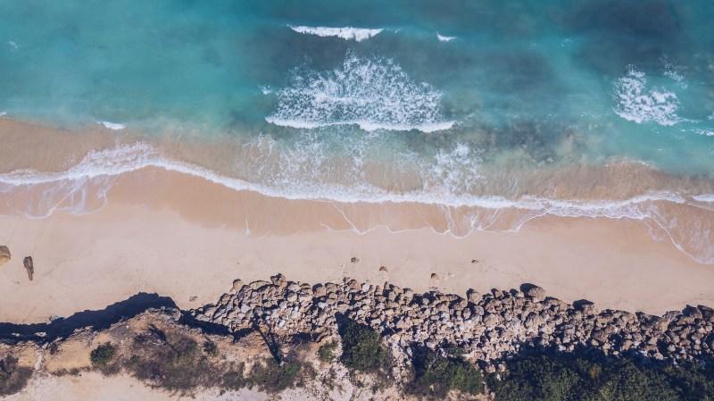 Drone photo of Bali Beach