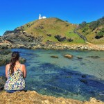 Girl at Little Bay Beach Port Macquarie