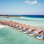 Lux Maldives Water villas from above