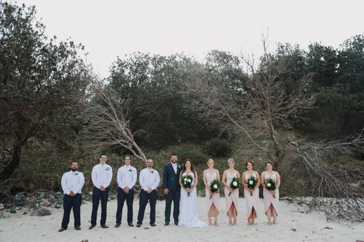 Bridal Party photo on Beach