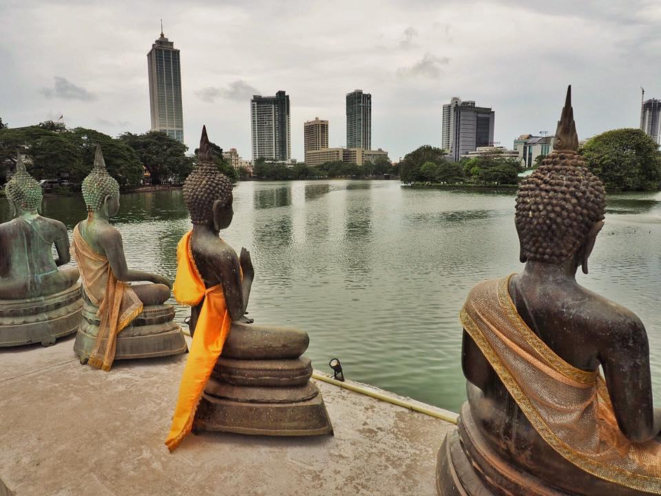 Buddhist Temple in Colombo Sri Lanka