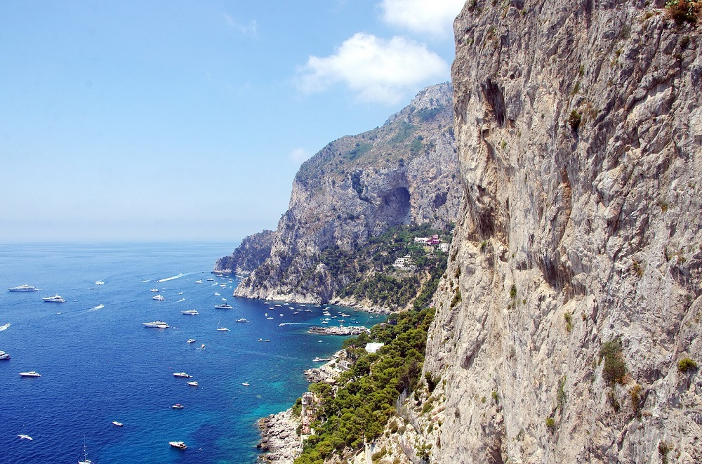 View from Cliffs looking to Sea on Isle of Capri