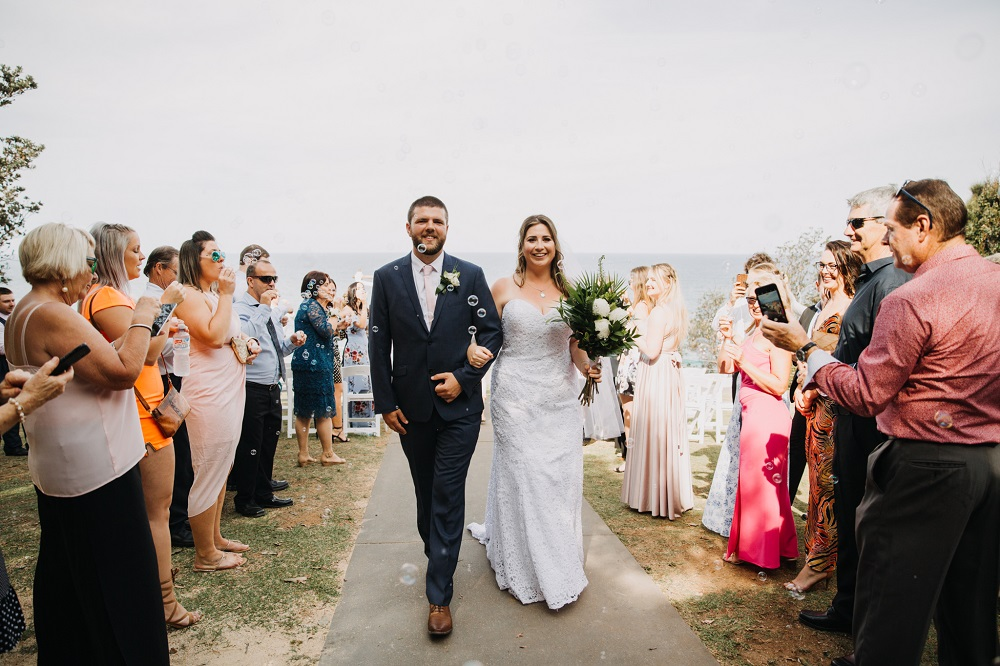 Groom and Bride leaving ceremony