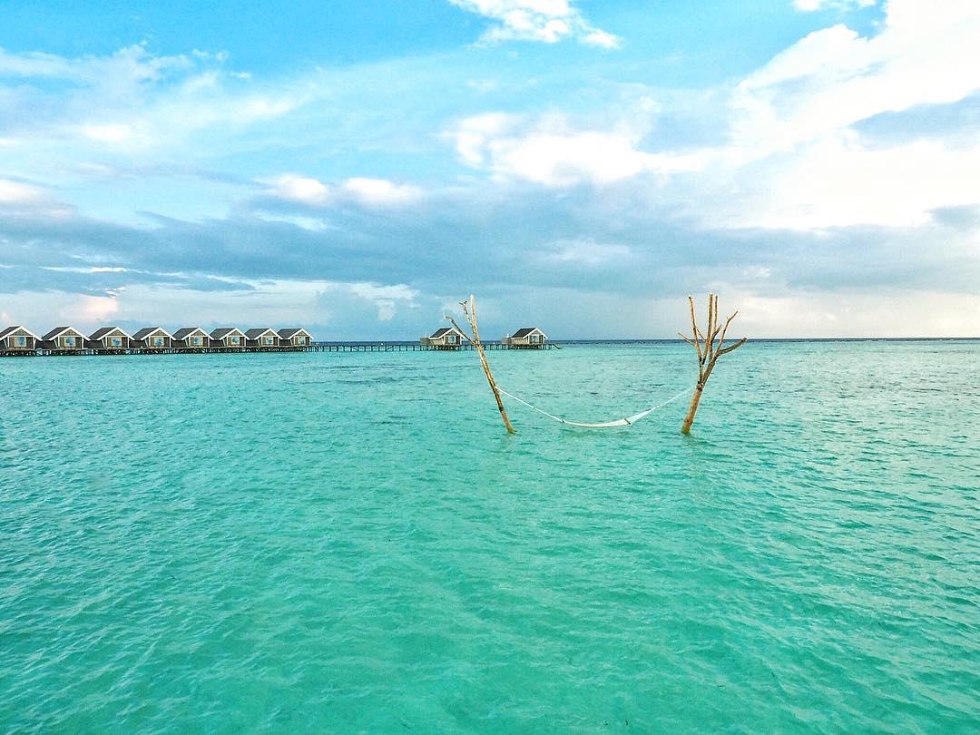 Hammock in Water at Maldives
