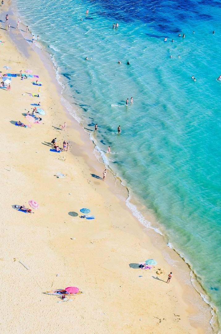 Italian Beach from above