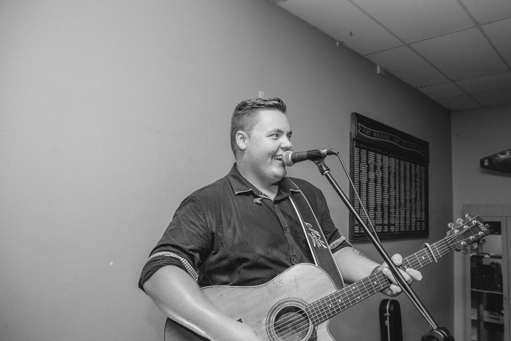 Jake Davey Musician at wedding