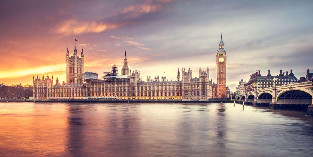 London at Dusk over Thames