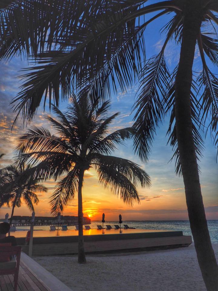 Sunset in LUX Maldives