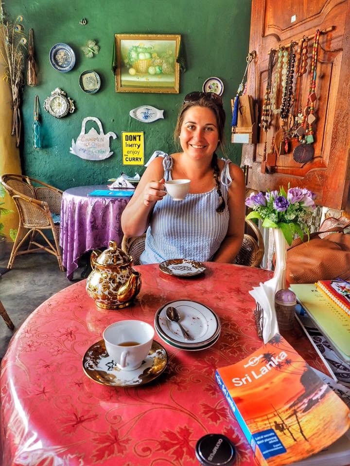 Girl at Tea House in Galle Sri Lanka